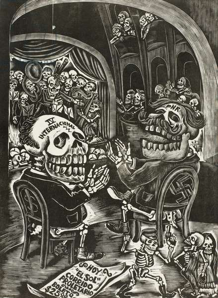Calaveras of the National Mausoleum, 1934, printed 1942 (wood engraving)