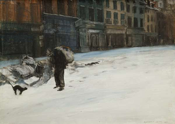 The Tired City (Early Morning, Paris), 1901 (pastel on paper)