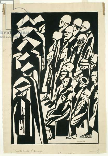 Graduation, 1948 (brush & black ink, over graphite, on cream wove paper)