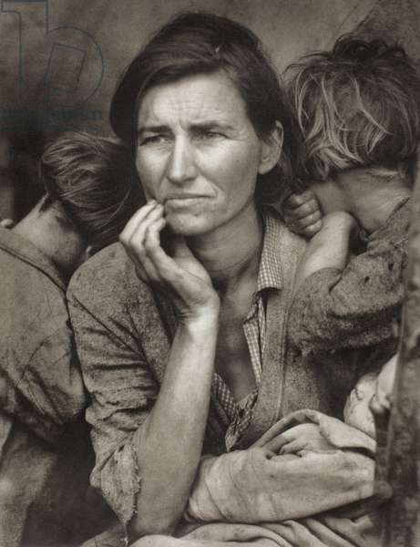 Migrant Mother, Nipoma, California, 1936, printed later (photogravure)
