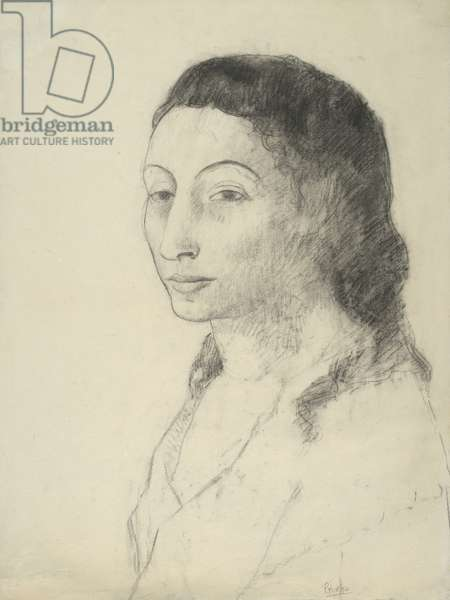 Fernande Olivier, summer 1906 (charcoal, with stumping, on cream laid paper)
