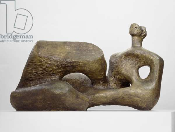 Maquette for UNESCO Reclining Figure, 1957 (bronze, cast in 1957, from an edition of five plus one)