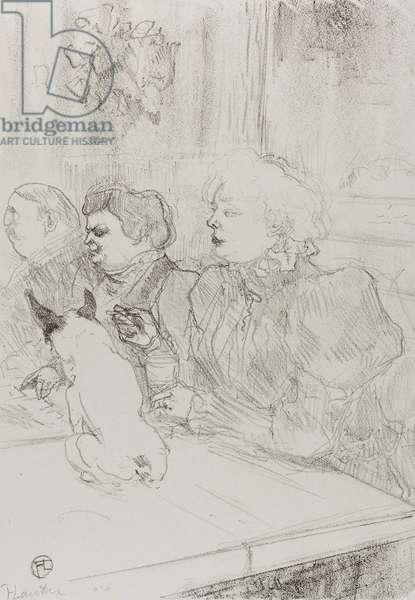 At La Souris, Madame Palmyre, 1897 (colour litho on ivory wove paper)
