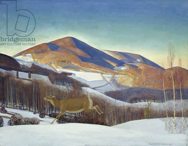 Mount Equinox, Winter, 1921 (oil on canvas)