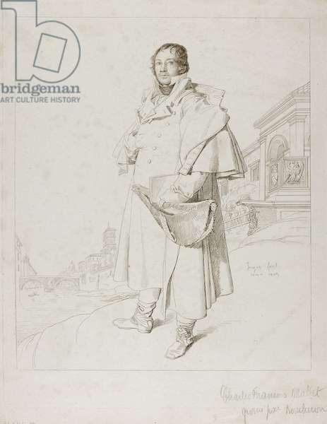Charles Francois Mallet, c.1809 (etching & drypoint)