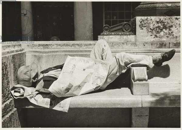 Vagrant in the Prado of Havana, c.1932 (gelatin silver print)