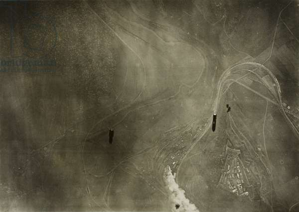 Untitled (Montmedy), 1918 (gelatin silver print, from loose-leaf album of aerial photographs from the photographic section, air service, american expeditionary forces, world war I)
