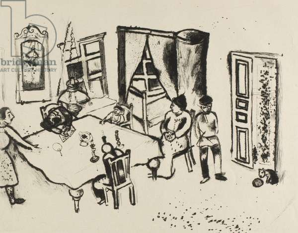 The dining room, (Engraving 010, by Mein Leben), 1922