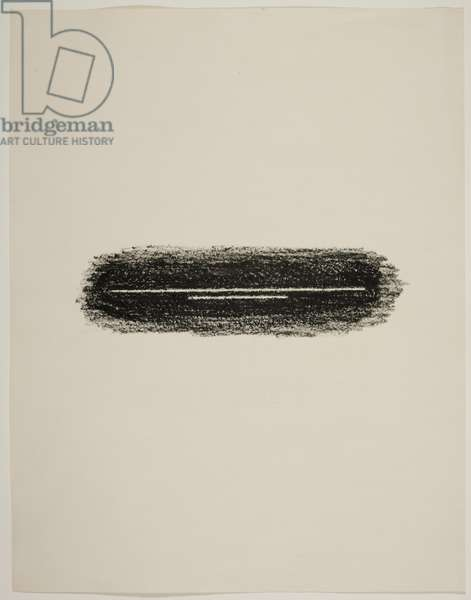 Untitled (black lithographic crayon on paper)