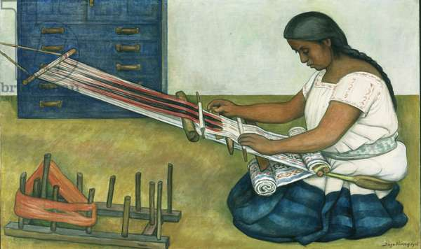 The Weaver, 1936 (tempera & oil on canvas)