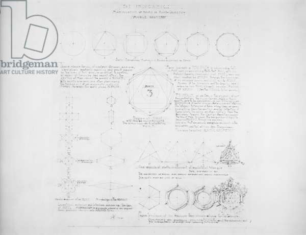 System of Architectural Ornament: Plate 3, The Inorganic, 1922-23 (graphite on strathmore paper)