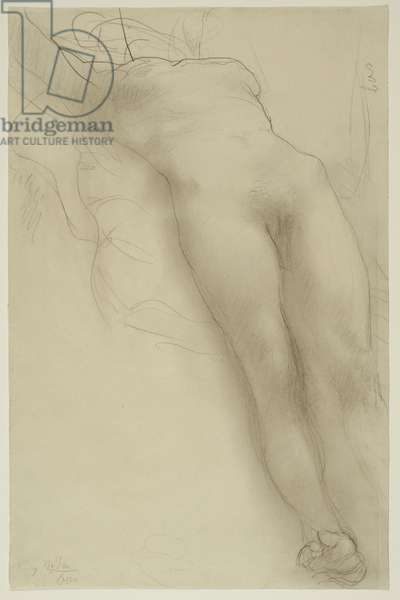Female Torso, c.1910 (graphite with stumping on ivory wove paper)