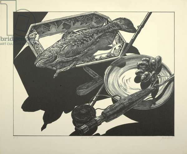 Brook Trout, 1976 (litho on ivory wove paper)