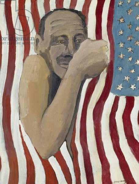 Flag Day, 1966 (oil on canvas)