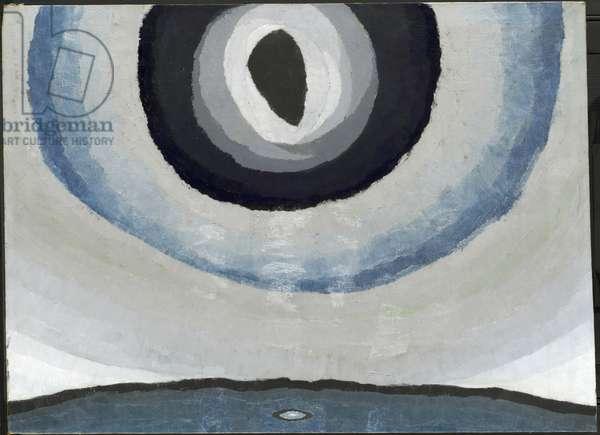 Silver Sun, 1929 (oil, metallic paint, and wax on canvas)