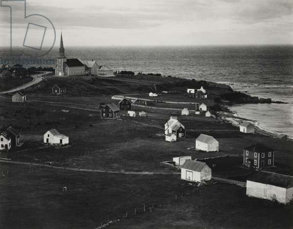 Fishing Village, Gulf of the St. Lawrence, Gaspé, 1929 (gelatin silver print)