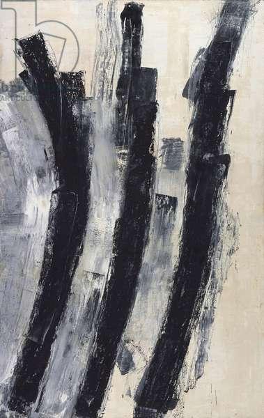 Iron Sharpens Iron, 1993 (oil on canvas)