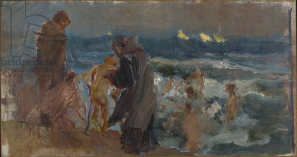 Sketch for The Sad Inheritance, c.1899 (oil on canvas, mounted on board)