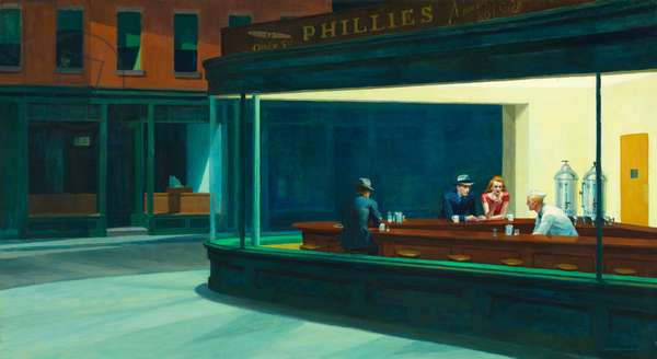 Nighthawks, 1942 (oil on canvas)