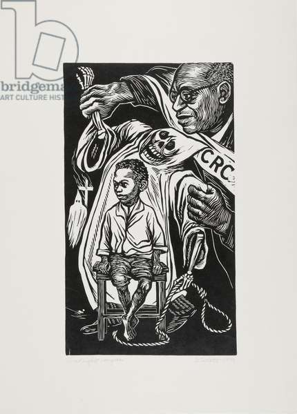 Civil Rights Congress, 1949 (linocut on cream wove paper)
