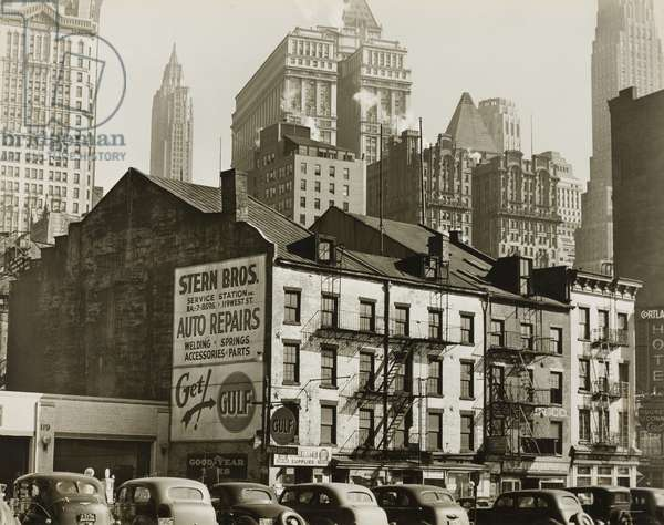 Vista from West St. Looking Southeast with 115-189 West St. in Foreground, c.1936 (gelatin silver print)