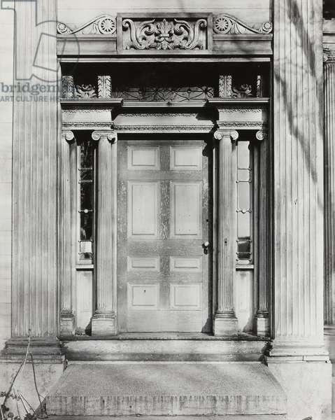 Ionic Doorway, New York State, 1931 (gelatin silver print)
