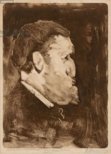 Caricature of William Gedney Bunce, 1883-84 (monotype)