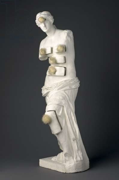Venus de Milo with Drawers, 1936 (painted plaster with metal pulls and mink pompoms)