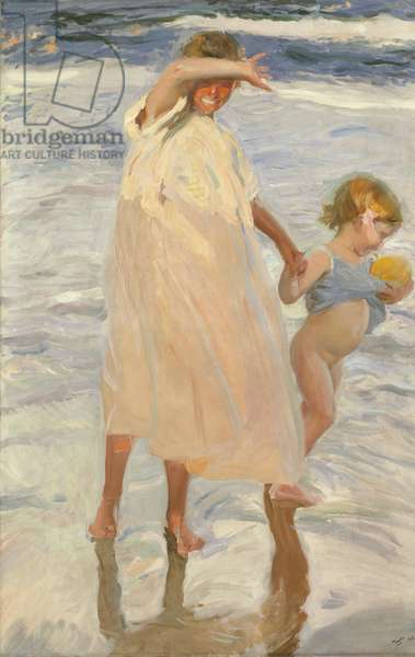 Two Sisters, Valencia, 1909 (oil on canvas)