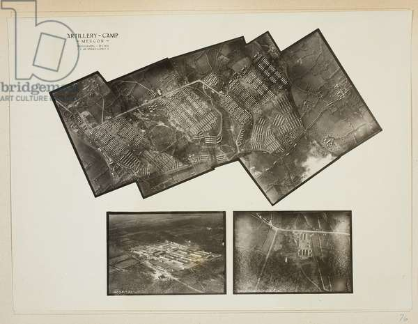 Untitled, Artillery Camp, Meucon, 1918-19 (gelatin silver print)