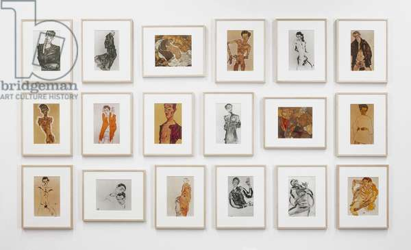 After Egon Schiele, 1982 (seven gelatin silver & eleven chromogenic prints; edition two of two)
