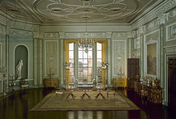 English Dining Room of the Georgian Period, 1770-90, c.1937 (mixed media)