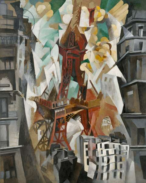Champs de Mars: The Red Tower, 1911-23 (oil on canvas)