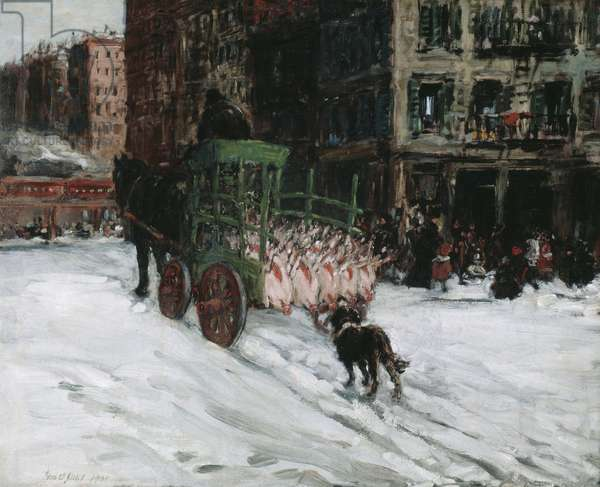 The Butcher Cart, 1901 (oil on canvas)