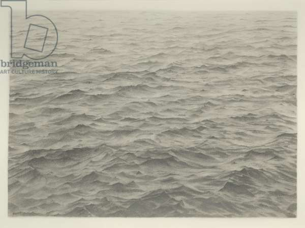 Untitled (Ocean), 1968 (graphite on paper)