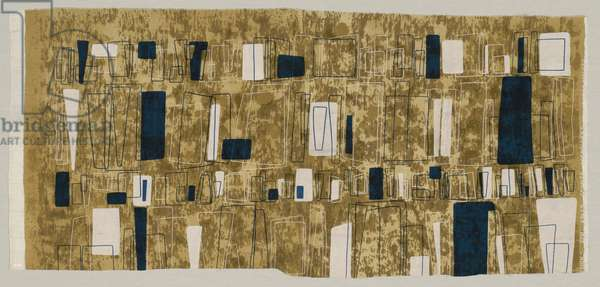 Loopholes (Furnishing Fabric), late 1940s-50s (cotton & polyester, plain weave, screen printed)