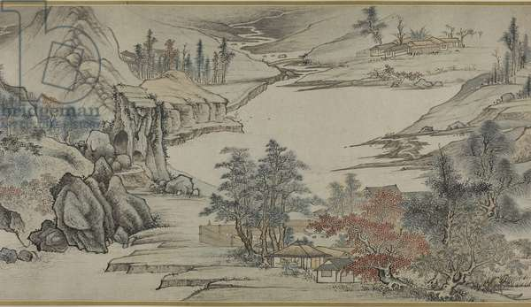 Landscape, Qing dynasty (1644–-1912), late 17th century (handscroll; ink & colour on paper)