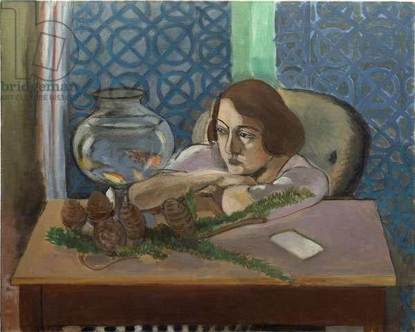 Woman Before an Aquarium, 1921-23 (oil on canvas)