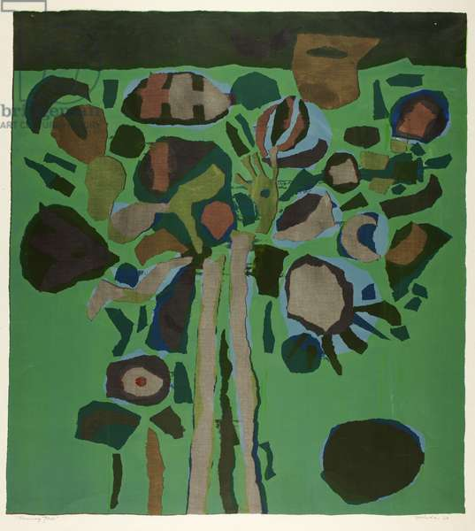 Blooming Tree, 1960 (colour screenprint on ivory wove paper)