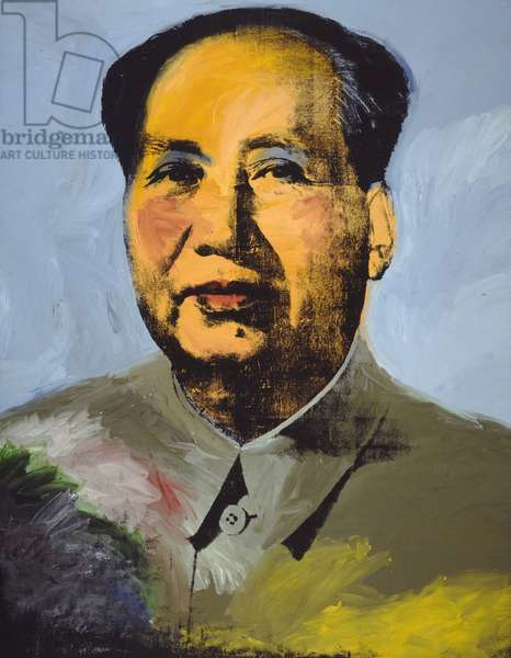 Mao, 1973 (synthetic polymer paint & silkscreen ink on canvas)