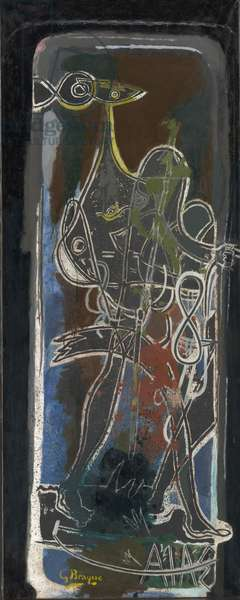 Ajax, 1949-54 (oil on paper, mounted on canvas)