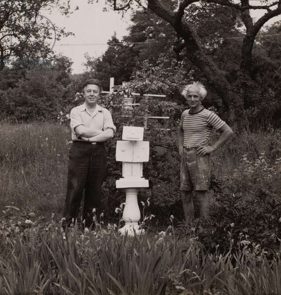 Andre Breton, An Anxious Friend, and Max Ernst, c.1945 (gelatin silver print)