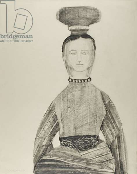 Third Doll, 1960 (graphite with erasing and graphite frottage on ivory Japanese paper)