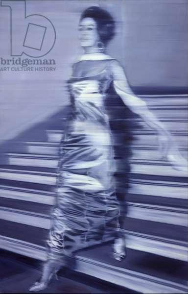 Woman Descending the Staircase (Frau die Treppe herabgehend), 1965 (oil on canvas)