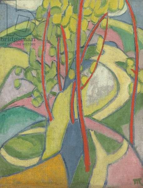 Landscape, 1911-12 (oil on canvas)