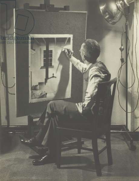 Self-Portrait at Easel, 1931-32 (gelatin silver print)