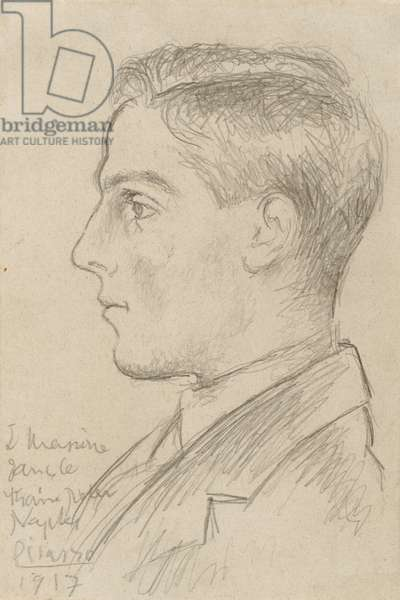 Portrait of Léonide Massine, 1917 (graphite on cream wove paper)