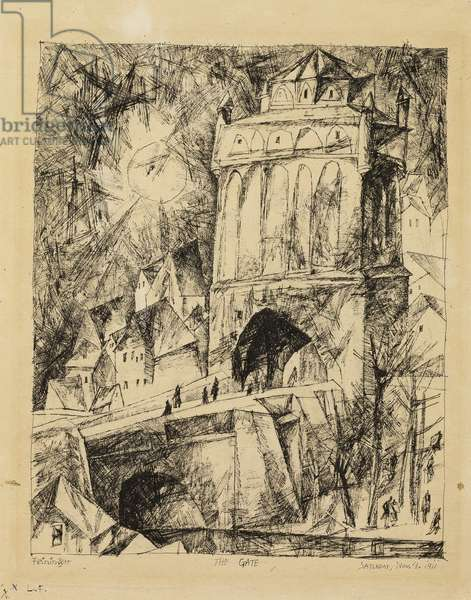 The Gate, 1911 (pen & black ink on cream laid paper)