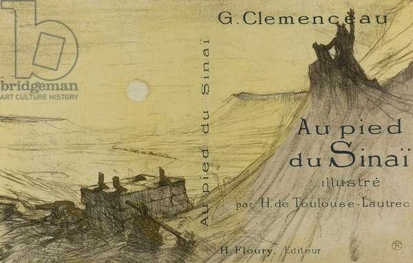 Cover for Au pied du Sinaï, 1897, published 1898 (colour litho on cream wove paper)