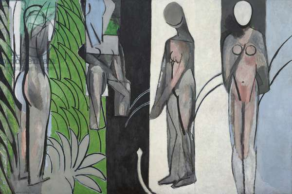 Bathers by a River, March 1909-10, May-November 1913, and early spring 1916-October (?) 1917 (oil on canvas)